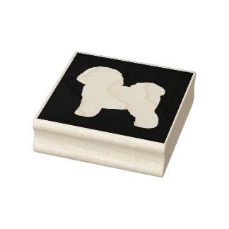Bichon Frise Silhouette Rubber Stamp