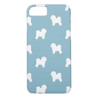 Bichon Frise Silhouettes Pattern Blue Case-Mate iPhone Case