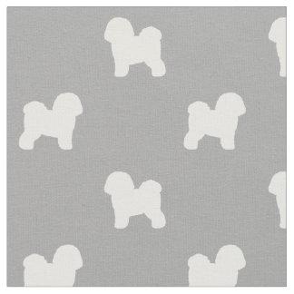 Bichon Frise Silhouettes Pattern Fabric