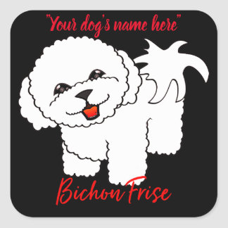 Bichon Frise Square Sticker