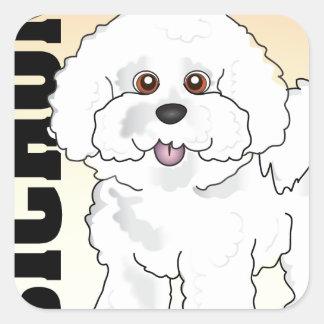Bichon Frise Square Sticker