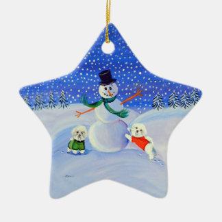 Bichon Frise Star Ornament