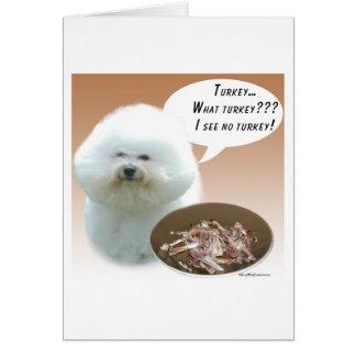 Bichon Frise Turkey Card