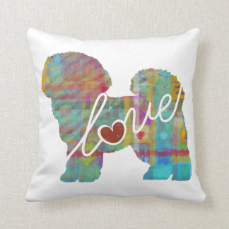 Bichon Frise Watercolor Throw Pillow