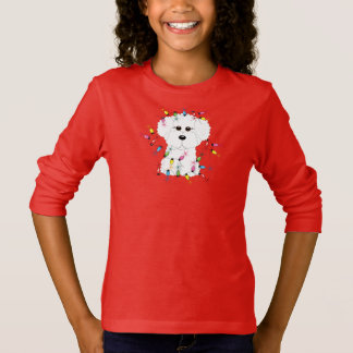 Bichon Frise with Christmas Lights T-Shirt