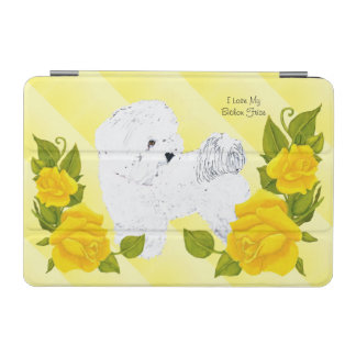 Bichon Frise with Yellow Rose iPad Mini Cover