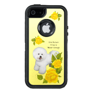 Bichon Frise, with Yellow Roses OtterBox Defender iPhone Case