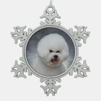 Bichon Frises Pewter Snowflake Ornament