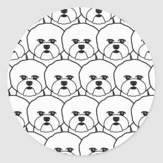 Bichon Frises Round Sticker