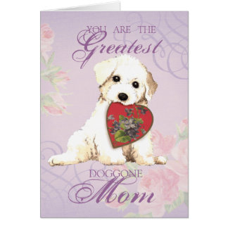 Bichon Heart Mom Card