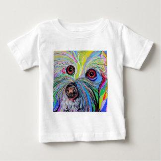 Bichon in Blue Tones Baby T-Shirt