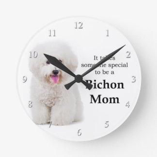 Bichon Mom Clock