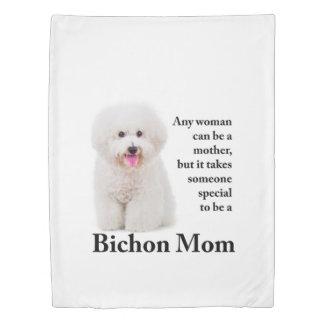Bichon Mom Duvet Cover