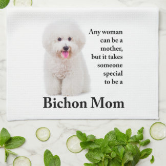 Bichon Mom Kitchen Towl Kitchen Towel