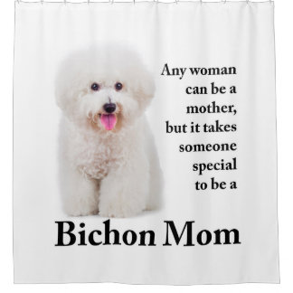 Bichon Mom Shower Curtain