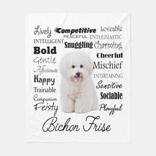 Bichon Traits Fleece Blanket
