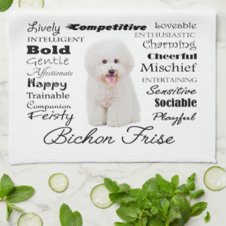 Bichon Traits Kitchen Towel
