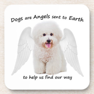 Bichons are Angels Coaster Set