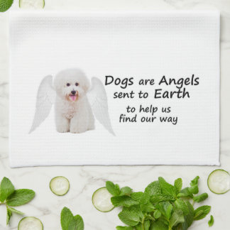 Bichons are Angels Kitchen Towel