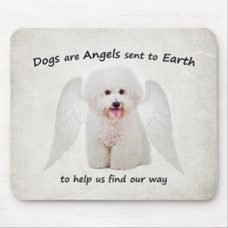 Bichons are Angels Mousepad