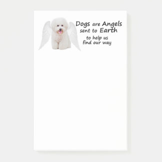 Bichons are Angels Post-It Notes