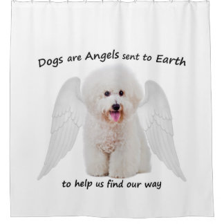 Bichons are Angels Shower Curtain