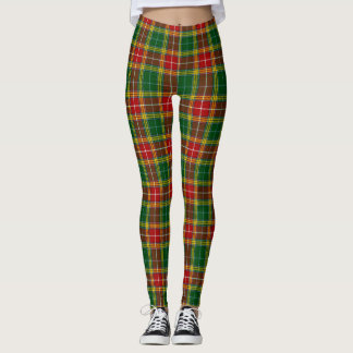 Bickhanan Tartan Yellow, Green and Red Leggings