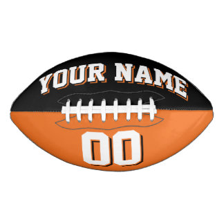 BICOLORED Black And Orange Custom Football