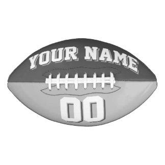 BICOLORED Dark Gray And Silver Custom Football