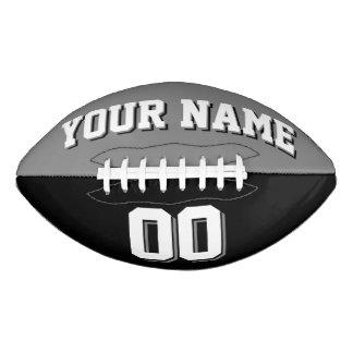 BICOLORED Dark Grey And Black Custom Football
