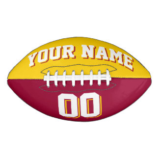 BICOLORED Golden Yellow And Maroon Custom Football