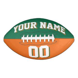 BICOLORED Green And Orange Custom Football
