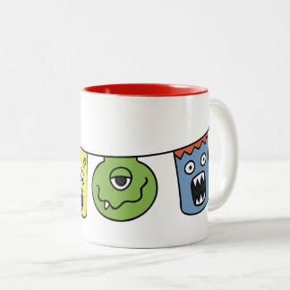 Bicolored mug Monstrinhos in the Varal