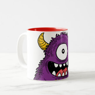 Bicolored mug Purple Monster