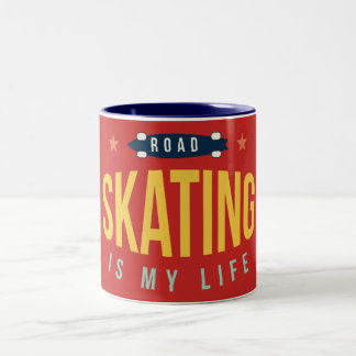 Bicolored mug Skating IS my Life