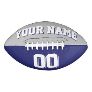 BICOLORED Silver Gray And Navy Custom Football