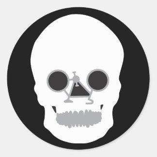 Bicy-skull Stickers