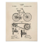 Bicycle 1890 Patent Art - Old Peper Poster