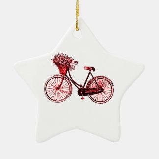 Bicycle 2 ceramic star ornament