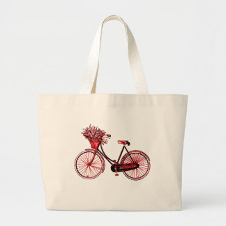 Bicycle 2 large tote bag