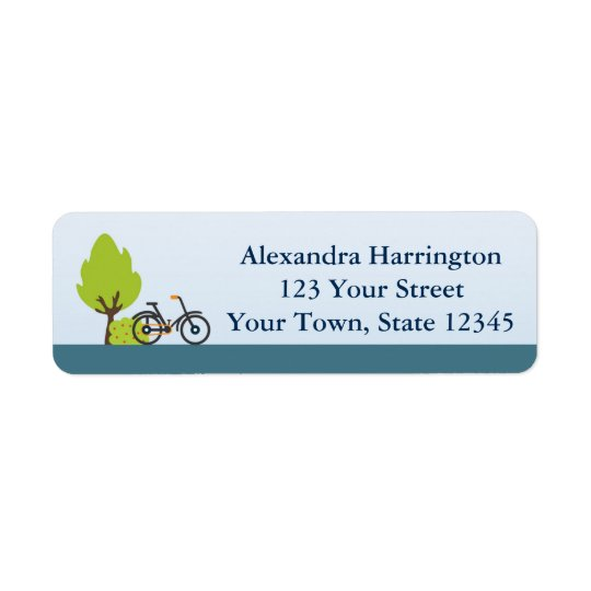 Bicycle and Trees, Address Label