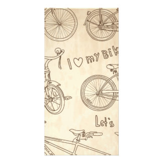 Bicycle Background Photo Card