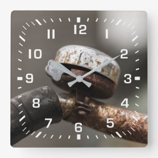 bicycle bell square wall clock