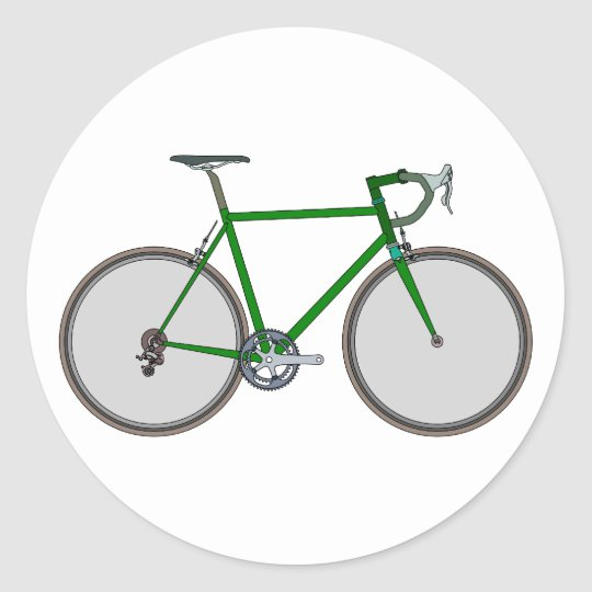 Bicycle bicycle classic round sticker