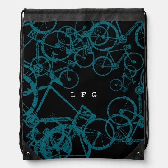 bicycle = bike = biking . nice drawstring bag