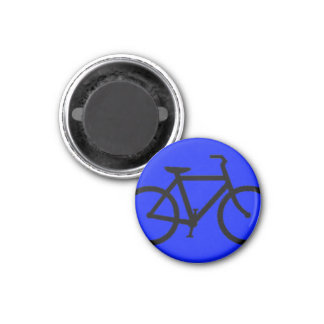 Bicycle: Black on Blue Magnet