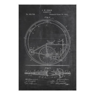 Bicycle Blueprint Poster