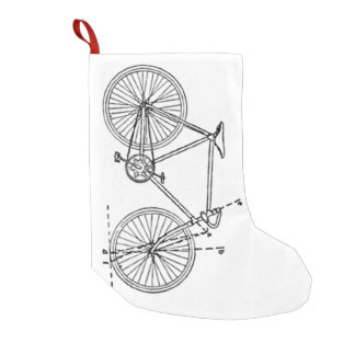 Bicycle Blueprint Small Christmas Stocking