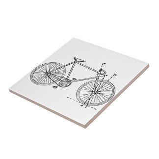 Bicycle Blueprint Tile