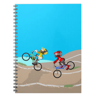 Bicycle BMX mountain in competition Notebooks